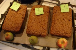Apple and Pear Breads baked for the 2012 Bear Aware Apple Share Festival