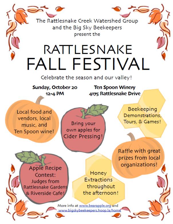Poster for Fall Festival