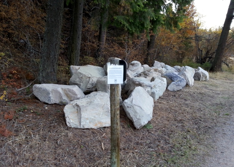 Boulders for use in Rattlesnake Creek Streambank and Riparian Restoration