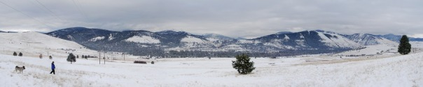 Panorama view across the Rattlesnake Valley